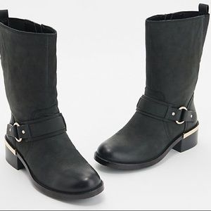 Vince Camuto Wellery Leather Buckle Boot